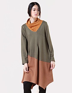 baratos Blusas Femininas-Mulheres Camiseta Estampa Colorida Gola Boba