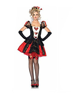 cheap -Costumes Fairytale Costumes Halloween Red / Black Patchwork Terylene Dress / More Accessories