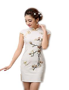 tanie Etniczne & Cultural Kostiumy-Tradycyjne Damskie Sukienki Sukienka typu A-Line Sukienka ołówkowa Cosplay Krótki rękaw Długość średnia