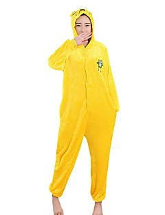 billige Kigurumi-Kigurumi-pysjamas Hund Onesie-pysjamas Kostume Fløyel Mink Cosplay Til Voksne Pysjamas med dyremotiv Tegnefilm Halloween Festival / høytid