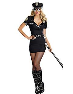 uniformer Cosplay Kostumer Halloween Festival / høytid Halloween-kostymer Svart Ensfarget