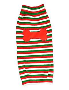 billiga Hundkläder-Katt Hund Tröjor Hundkläder Ben Röd Akrylik Fiber Kostym För husdjur Herr Dam Ledigt/vardag