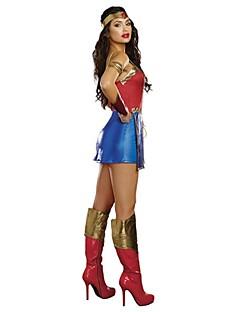 billige Halloweenkostymer-Superhelter / Film & Tv Kostymer Cosplay Kostumer Sexy Uniformer Terylene Cosplay-tilbehør Halloween / Karneval
