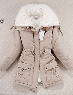 Women's Regular Padded Coat,Cute Casual Daily Solid-Cotton Cotton Long Sleeves