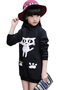 Girl Casual/Daily Solid Hoodie & Sweatshirt,Cotton Winter Long Sleeve Regular