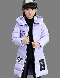 Girl's Casual/Daily Print Down & Cotton PaddedPolyester Winter Black / Pink / Purple / Red