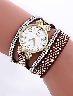Women's Bracelet Watch Fashion Watch Simulated Diamond Watch Quartz Imitation Diamond Leather Band Butterfly Black White Blue Red Brown