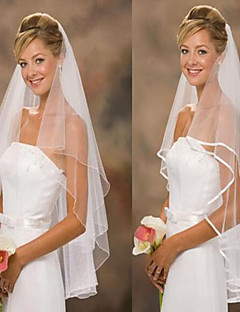 Two-tier Wedding Veil Fingertip Veils With Tulle Wedding Accessories