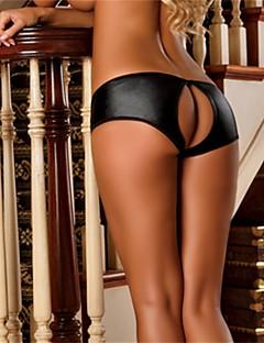 Women's Fancy Nightwear & Loungewear  Plus Size Sexy Ultra Sexy Panties PU Black