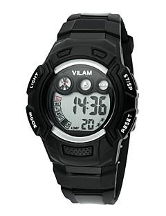 billige Høj kvalitet-Vilam Sportsur / Armbåndsur / Digital Watch Kalender / Vandafvisende / LCD Plastik Bånd Luksus / Glitrende / Punkt Blåt / Grøn / Mangefarvet / Stopur