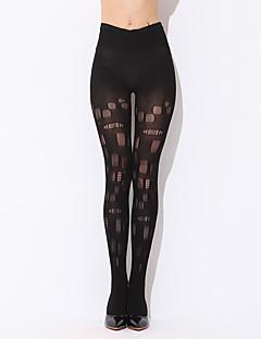 Women Thin Hollow Perspective High Waist Sexy Nightclub Stockings