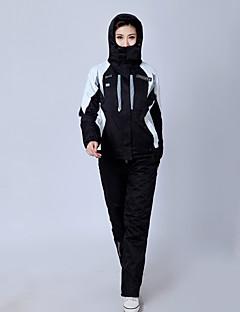Calças & Jaquetas de Esqui Mulheres Esqui Esportes de Inverno Térmico/Quente Respirável Náilon Chinês Conjuntos de Roupas