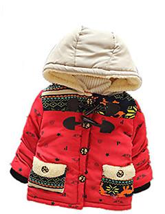 Casual/Dagelijks-Print-Katoen-Winter / Lente / Herfst-Boy's-Dons & Katoen voering-Blauw / Rood / Geel