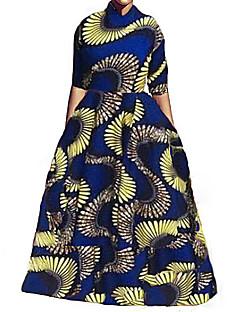 お買い得  レディースツーピースセット-女性用 ビーチ ワーク ショート ブラウス セット - プリント スカート シャツカラー