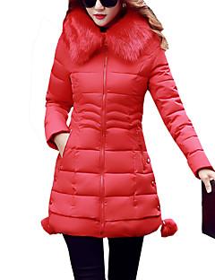 お買い得  レディースダウン&パーカー-女性用 プラスサイズ お出かけ フード付き ロング パッド入り パッチワーク