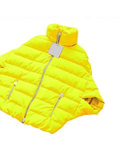 Χαμηλού Κόστους Women's Down Coats-Γυναικεία Καθημερινό Πούπουλα λευκής χήνας Πουπουλένιο - Μονόχρωμο Όρθιος Γιακάς / Χειμώνας / Μανίκι Νυχτερίδα