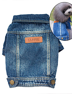 Dog Denim Jacket/Jeans Jacket Blue Dog Clothes Winter / Spring/Fall Jeans Cute / Cowboy / Fashion