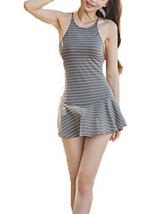 billige Bikinier og damemote 2017-Kvinner Bandasje / Kryss / Snøring Stropper En del Nylon / Polyester / Spandex