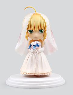 billige Anime cosplay-Anime Action Figurer Inspirert av Fate/Stay Night Saber Lily PVC 6 CM Modell Leker Dukke