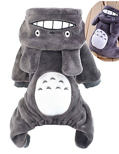 Cat Dog Costume Hoodie Clothes/Jumpsuit Dog Clothes Cute Cosplay Cartoon Gray Rose Brown