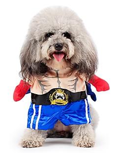billiga Hundkläder-Katt Hund Dräkter/Kostymer Kappor Outfits Jumpsuits Hundkläder Jeans Rosa Cotton Terylen Kostym För husdjur Herr Dam Gulligt Cosplay