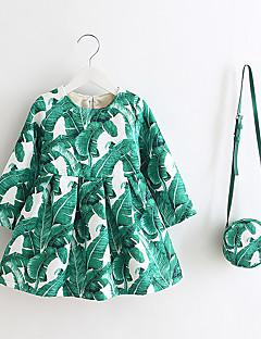 女の子の カジュアル/普段着 プリント ポリエステル ドレス 春 / 秋 長袖