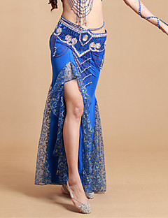 ベリーダンス チュチュスカート 女性用 演出 スパンデックス / ポリエステル プリーツ 1個 ナチュラルウエスト スカート 93cm
