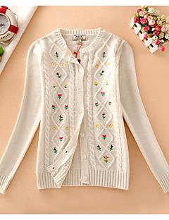 ieftine Bluze Damă-Pentru femei Brodată Zilnic Casual Cardigan Manșon Lung Rotund Iarnă Toamnă Bumbac