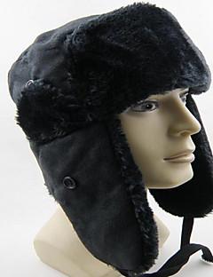 billige Trendy hatter-Unisex Fritid Skilue,Alle årstider Ensfarget Polyester Svart Grå