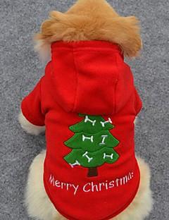Cachorro Camisola com Capuz Roupas para Cães Fofo Férias Fashion Natal Sólido