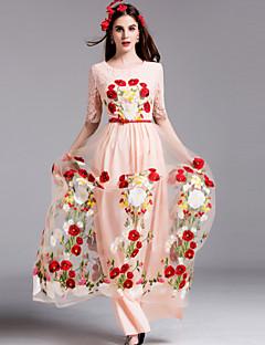 Χαμηλού Κόστους BY MEGYN-Γυναικεία Θήκη Φόρεμα - Κέντημα Μακρύ