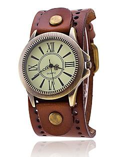 男性用 軍用腕時計 ファッションウォッチ リストウォッチ クォーツ パンク 多色 レザー バンド チャーム ヴィンテージ カジュアル ボヘミアンスタイル クール ブラック 白 ブルー レッド ブラウン グリーン 黄色