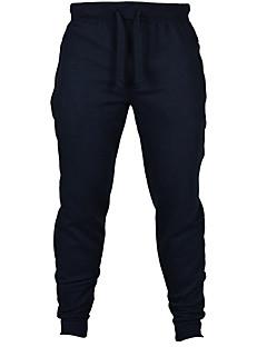 Men's Mid Rise Micro-elastic Active Sweatpants Pants,Active Slim Solid
