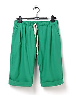 billige Herrebukser og -shorts-Herre Lin Harem / Chinos Bukser Ensfarget
