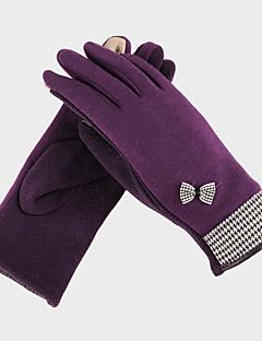 kvinner polyester fingertuppene håndleddet lengde, solid uformell vinter