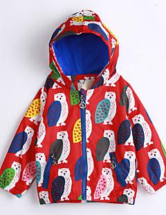 Χαμηλού Κόστους Ρούχα για Αγόρια-Γιούνισεξ Καθημερινά Μπουφάν & Παλτό, Βαμβάκι Φθινόπωρο Μακρυμάνικο Κόκκινο