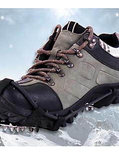 Isbrodder Klatring sko Stegjern 18 tenner Anti Glide Rustfritt Stål til Camping & Fjellvandring Klatring Snøscooter Snøsko Snøsport