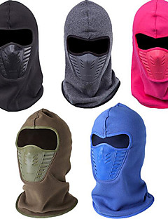 billige Clothing Accessories-balaclavas Vinter Høst Hold Varm Vindtett Ski Camping & Fjellvandring Jakt Klatring Snøsport Herre Dame Fleece Helfarge