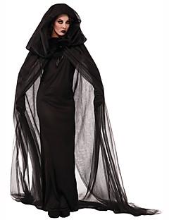 Taikuri/noita Naiset Festivaali/loma Halloween-asut Musta Yhtenäinen