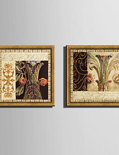 Çiçek/Botanik Çerçeveli Tuval / Çerçeve Seti Duvar Sanatı,PVC Malzeme Altın Keçesiz Frame ile For Ev dekorasyonu çerçeve Sanat
