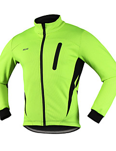 cheap Cycling Jackets-Arsuxeo Men's Cycling Jacket Red / Blue / Light Green Bike Winter Jacket / Top Thermal / Warm, Anatomic Design, Breathable Spandex, Fleece