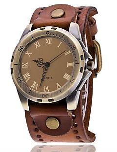 Men's Dress Watch Fashion Watch Wrist watch Sport Watch Military Watch Quartz Punk Leather Band Charm Vintage Casual Bohemian Bangle Cool