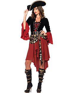 billige Halloweenkostymer-Pirat / Film & Tv Kostymer Cosplay Kostumer / Party-kostyme Sexy Uniformer Rød Terylene Cosplay-tilbehør Halloween / Karneval / Barnas Dag Halloween-kostymer