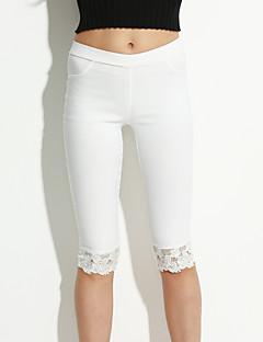 Χαμηλού Κόστους Cropped Pants-Γυναικεία Μεγάλα Μεγέθη Σκίνι Τζιν Παντελόνι - Δαντέλα
