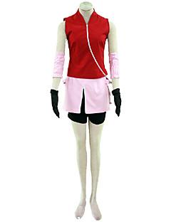 """billige Anime Kostymer-Inspirert av Naruto Cosplay Anime  """"Cosplay-kostymer"""" Cosplay Klær Ensfarget Frakk / Skjørte / Ermer Til Dame Halloween-kostymer"""
