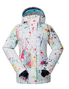 GSOU SNOW® スキーウェア スキー/スノーボードジャケット 女性用 冬物ウェア ポリエステル 冬物ウェア 防水 / 高通気性 / 保温 / 防風 / 抗紫外線 / 耐久性 スケーティング / スノーボード / スノースポーツ / ダウンヒル 冬