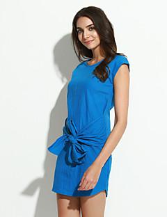 Χαμηλού Κόστους Denim Fashion-Γυναικεία Κομψό στυλ street Σε γραμμή Α Φόρεμα - Μονόχρωμο Μίνι