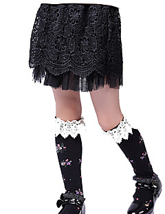 Girls Fashion Han Edition Joker Black Lace  Short Skirts
