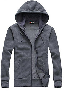 Men's Sports Going out Casual/Daily Simple Active Hoodie Patchwork Micro-elastic Cotton Long Sleeve Spring Fall