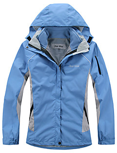 Women's 3-in-1 Jackets Waterproof Thermal / Warm Quick Dry Windproof Ultraviolet Resistant Anti-Eradiation Breathable Full Length Visible